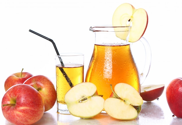 Fresh and cold apple juice