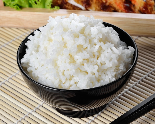Fresh cooked rice in a bowl
