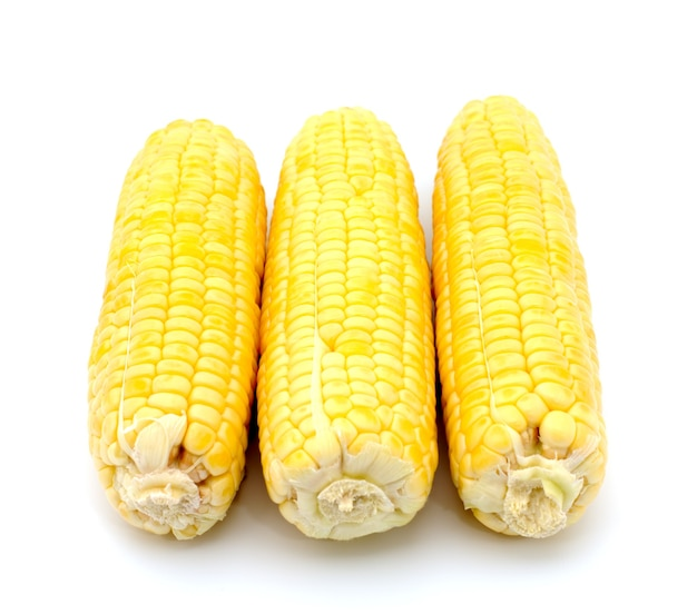 Fresh corn isolated on a white background