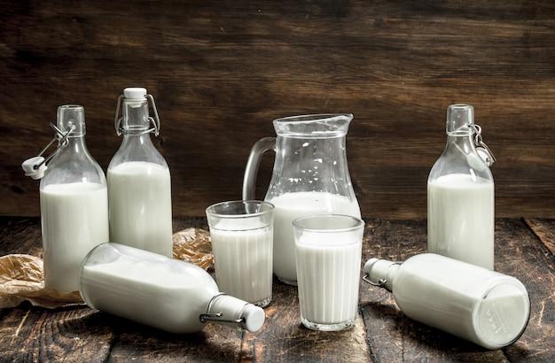 新鮮な牛のミルク。