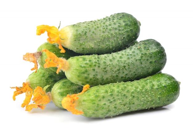 Fresh cucumber isolated