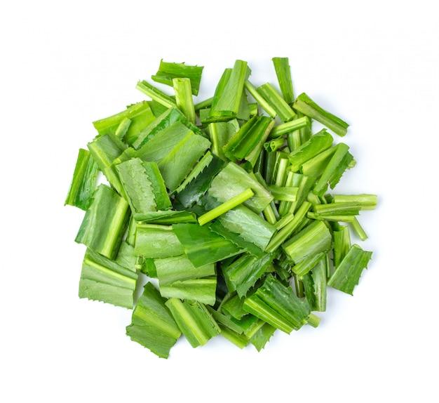 Fresh cut cilantro isolated