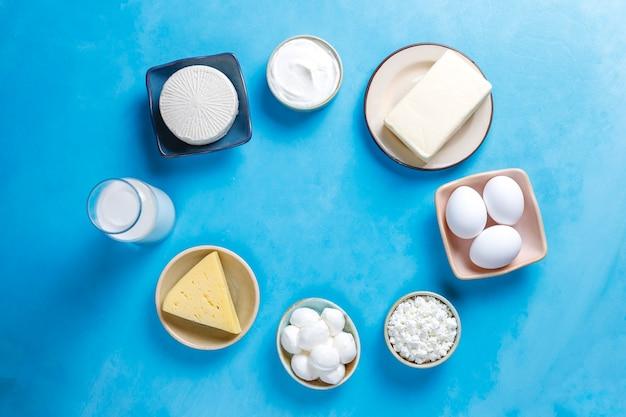 新鮮な乳製品。