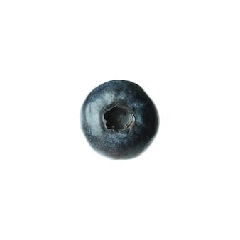 白で分離された新鮮なおいしいブルーベリー