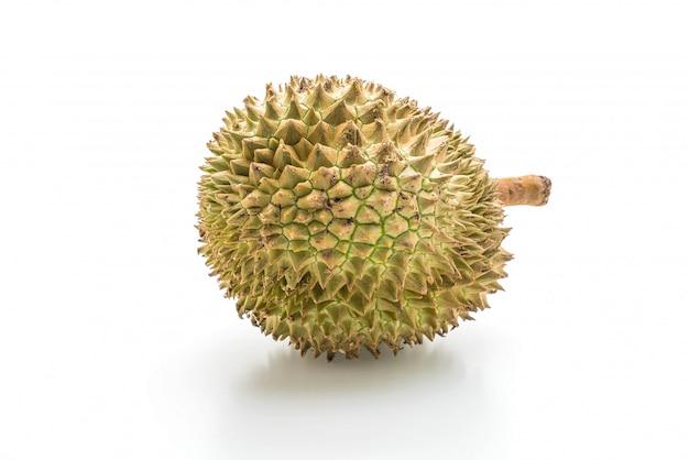 Fresh durian on white background