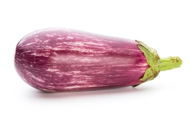 Fresh eggplants, aubergine on a white