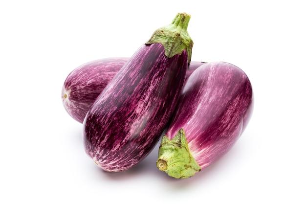 Fresh eggplants, aubergine.