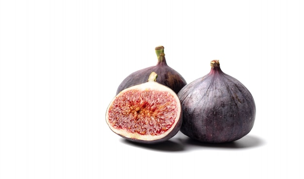 Fresh figs. food photo. whole and sliced figs