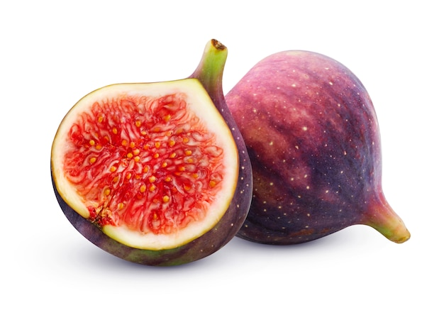 Fresh figs isolated on white  with clipping path