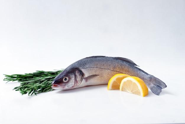 Свежая рыба на доске, морской окунь