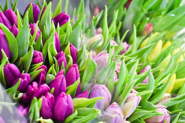 Fresh flower bouquets Premium Photo