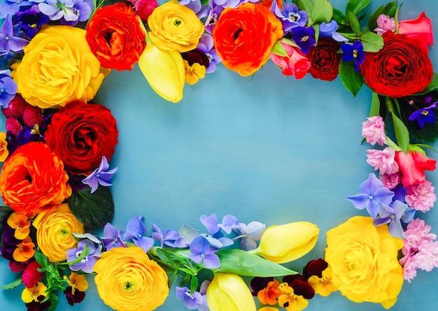 신선한 꽃 축제 프레임