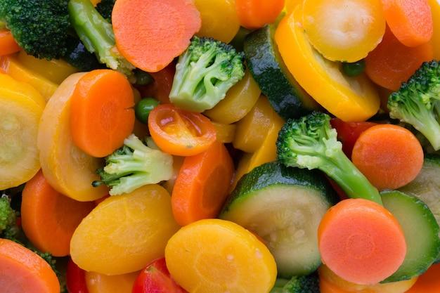 新鮮な冷凍野菜のエコ食品、自然。