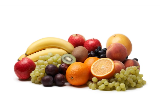 Fresh fruit fruit on white