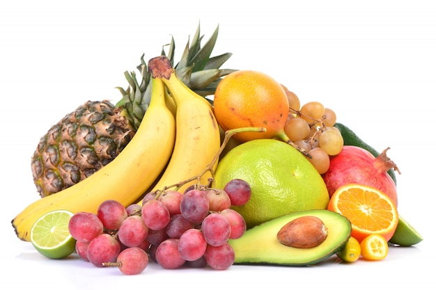 分離された新鮮な果物