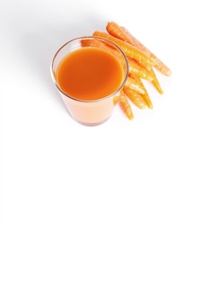 Fresh fruit juice and carrots