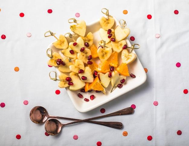 ハートボウルのフレッシュフルーツサラダ