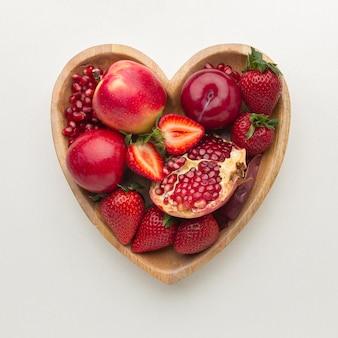 신선한 과일 배열