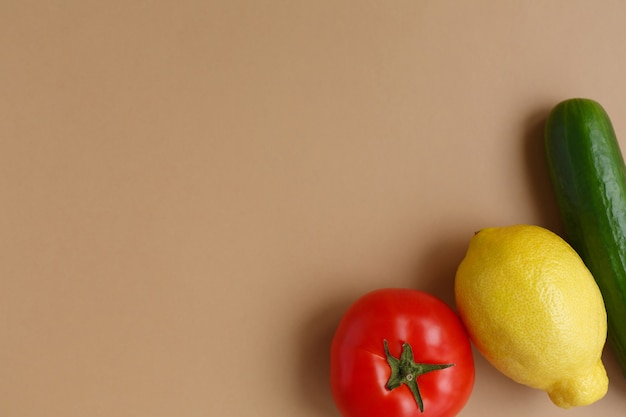 Fresh fruits and vegetables healthy eating and diet