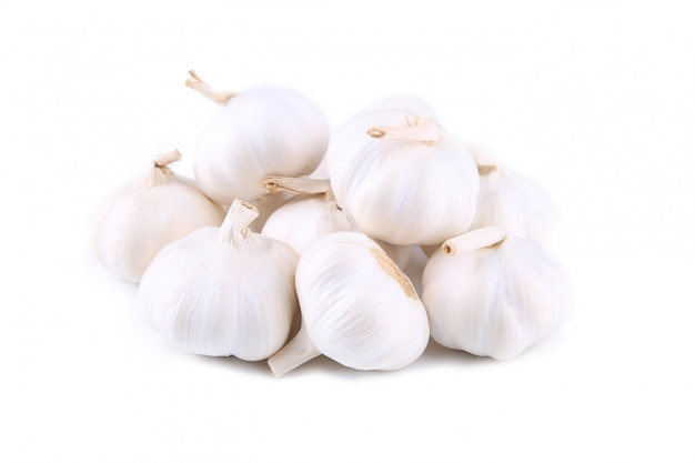 Fresh garlic isolated on a white background