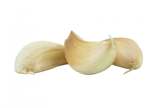Fresh garlic isolated