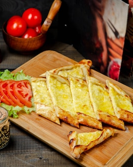 Fresh georgian khachapuri with cheese