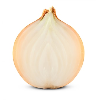 Fresh golden onion isolated on white