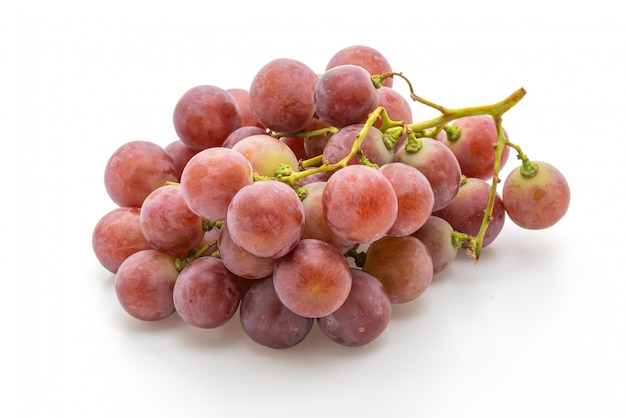 Fresh grape on white background
