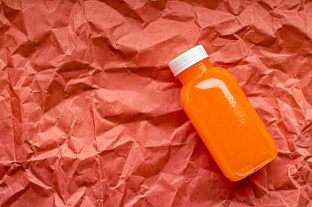 친환경 재활용 플라스틱 병에 신선한 자몽 주스와 건강 음료 및 식품 포장...