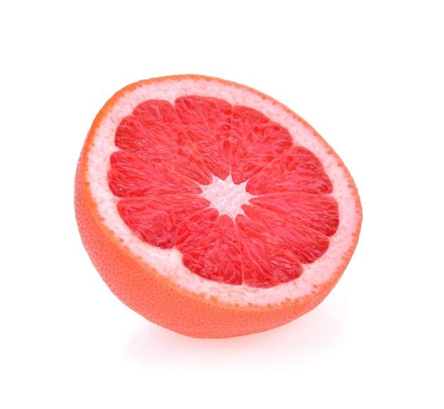 Fresh grapefruit on white