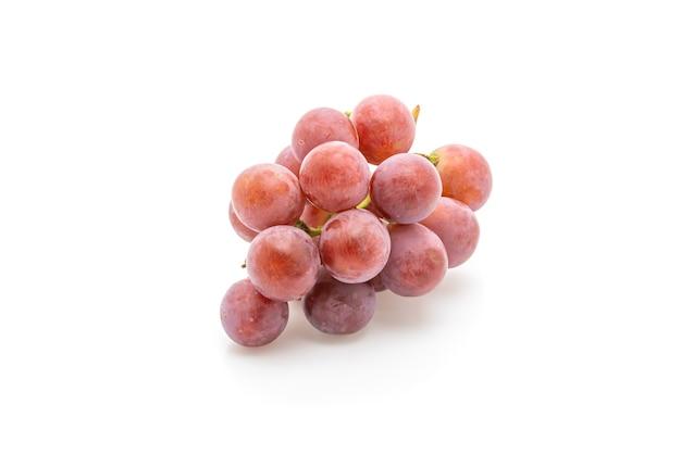 Fresh grapes on white table
