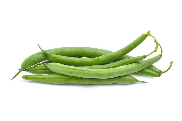 신선한 녹색 콩 문자열 콩 절연