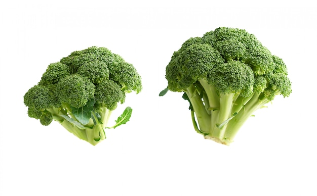 Fresh green broccoli cabbage isolated