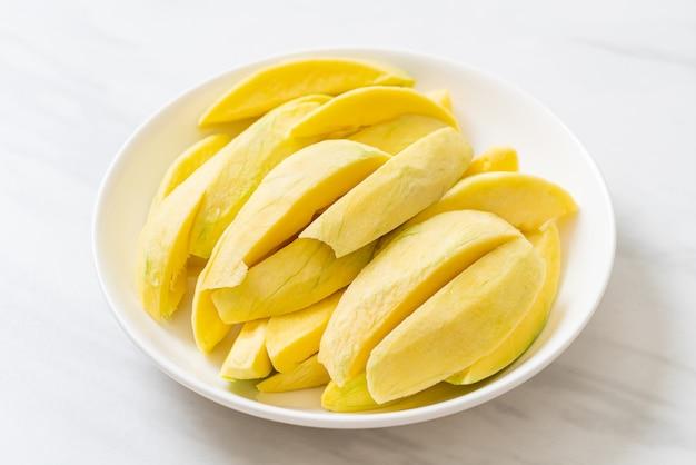 Fresh green and golden mango