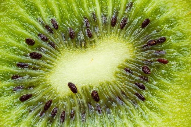 A fresh green kiwi fruit