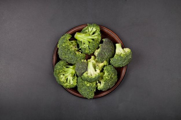 Fresh green organic broccoli.