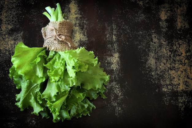 Fresh green salad leaves