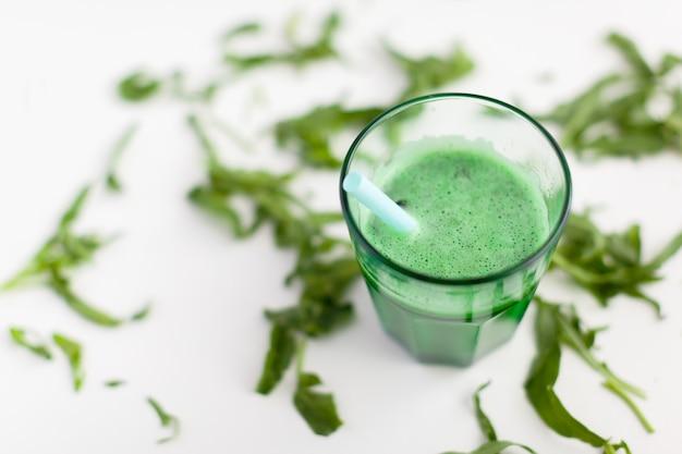 Fresh green smoothy drink