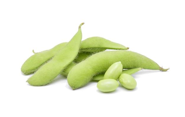 Fresh green soybeans