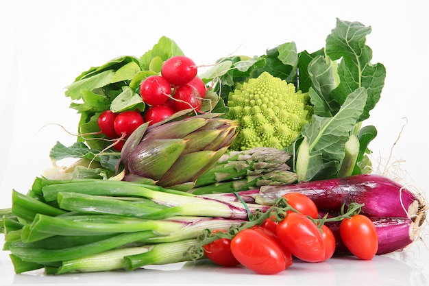 Fresh group of vegetables