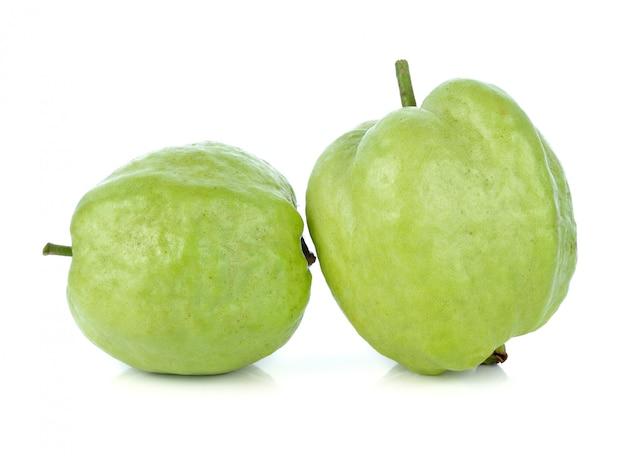 Fresh guava fruit isolated on white