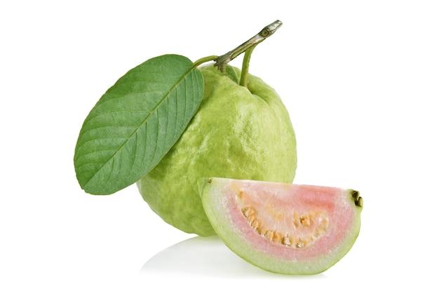 Fresh guava isolated on white background