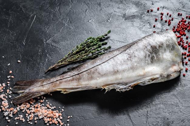 スパイスと新鮮なハドックの魚