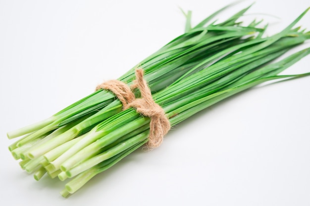 Fresh healthy organic green vegetable garlic chives,