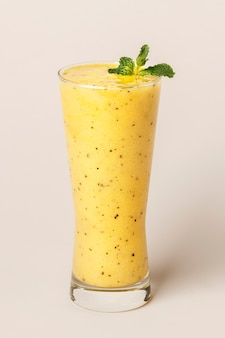 Fresh and healthy passion fruit smoothie