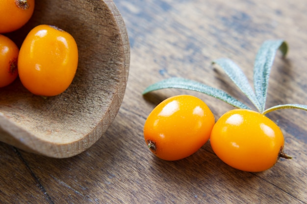 Fresh and healthy sea buckthorn berry