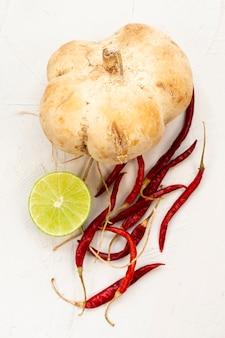 Fresh heathy vegetables on table