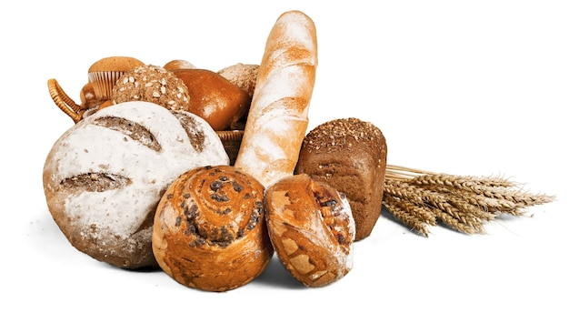 焼きたての自家製パン、クローズアップ