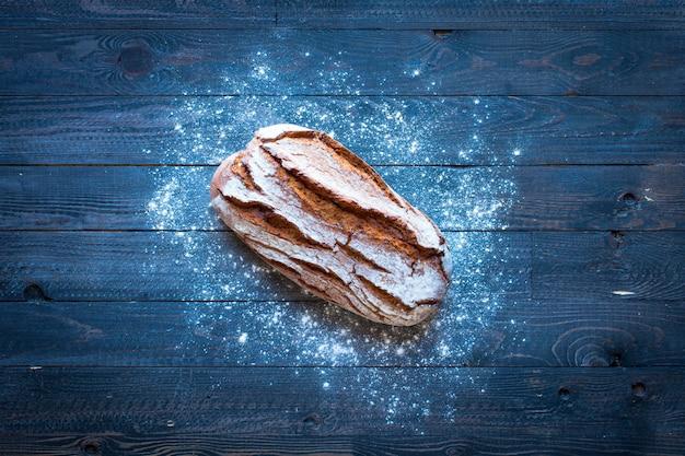 Fresh homemade bread, top view