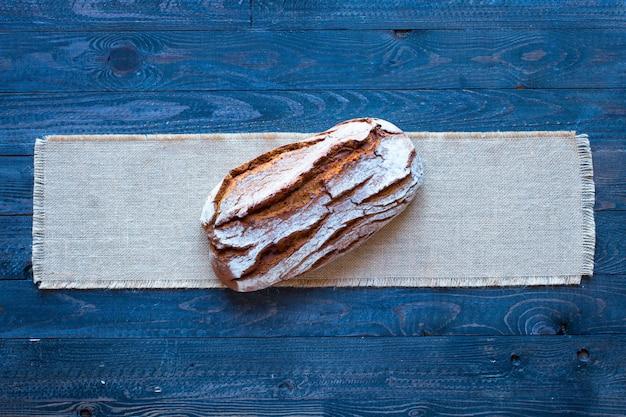 Fresh homemade bread top view